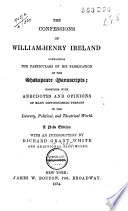 The Confessions of William Henry Ireland