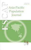 Asia Pacific Population Journal Vol 31  No 2  December 2016