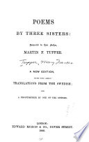 Poems by Three Sisters, Dedicated to Their Father, Martin F. Tupper
