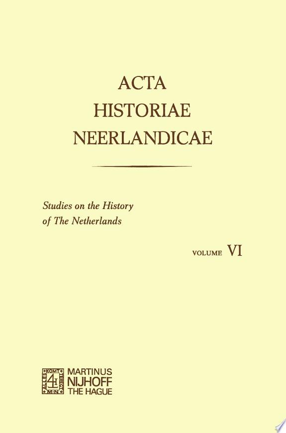 Acta Historiae Neerlandicae/Studies