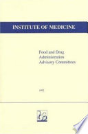Food and Drug Administration Advisory Committees