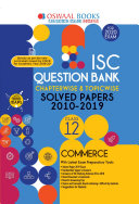 Oswaal Isc Question Bank Class 12 Commerce Chapterwise Topicwise For March 2020 Exam