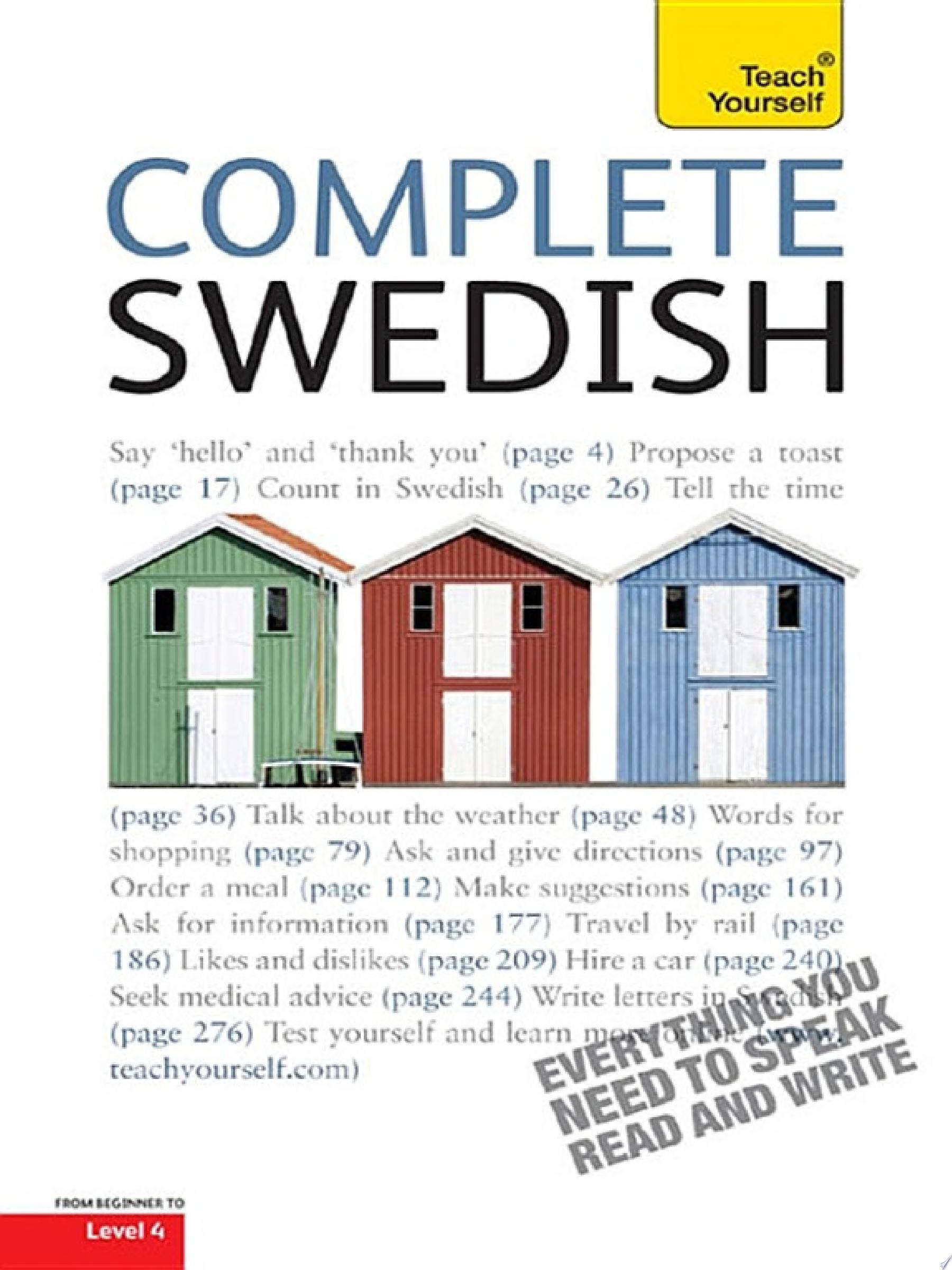 Complete Swedish Beginner to Intermediate Book and Audio Course