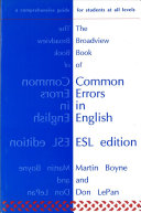 The Broadview Book of Common Errors in English - ESL Edition