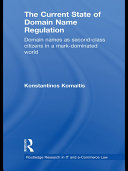 The Current State of Domain Name Regulation [Pdf/ePub] eBook