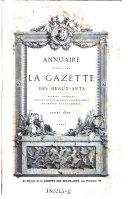 Annuaire publié par La Gazette des beaux-arts