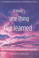 If There s One Thing I ve Learned  Book PDF