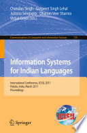 Information Systems for Indian Languages Book
