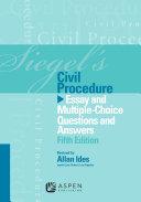Siegel's Civil Procedure