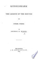 K  nigsmark  The Legend of the Hounds and Other Poems Book