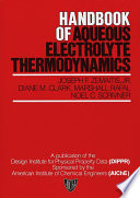 Handbook of Aqueous Electrolyte Thermodynamics Book