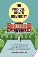 The Purpose Driven University