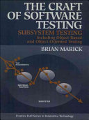 The Craft of Software Testing