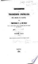 Leggende e tradizioni popolari del Regno di Napoli del prof. T. A. De Felici