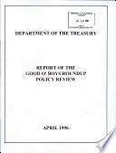 Report Of The Good O Boys Roundup Policy Review