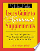User's Guide to Nutritional Supplements Pdf/ePub eBook