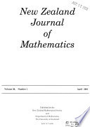 New Zealand Journal of Mathematics