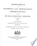 Observations Made At The Royal Observatory Greenwich In The Year In Astronomy Magnetism And Meteorology PDF