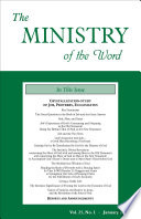 The Ministry Of The Word Vol 25 No 01