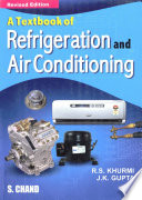 A Textbook of Refrigeration and Air Conditioning