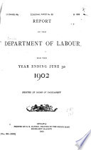 Report of the Department of Labour for the Year Ended ...