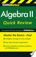 CliffsNotes Algebra II Quick Review  2nd Edition Book