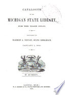 Catalogue of the Michigan State Library  for the Years 1879 80