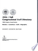 Congressional Staff Directory 2006/Fall