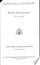 United States Congressional Serial Set Serial No 14892 House Documents Nos 180 202