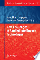 New Challenges in Applied Intelligence Technologies Book