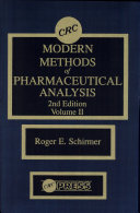 Modern Methods of Pharmaceutical Analysis, Second Edition