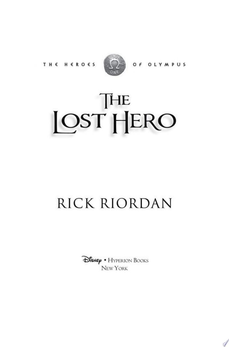Lost Hero, The (Heroes of Olympus, The, Book One) banner backdrop