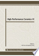 High Performance Ceramics VI Book