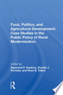 Food  Politics  And Agricultural Development