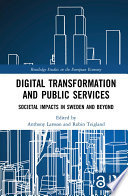 Digital Transformation and Public Services  Open Access  Book
