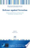 Defense against Terrorism Book