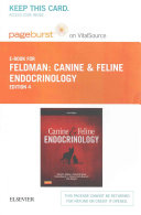 Canine and Feline Endocrinology Pageburst E book on Vitalsource Retail Access Card Book
