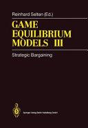 Game Equilibrium Models III