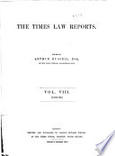 The Times Law Reports Book