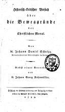 Historischkritischer Versuch über die Beweggründe der ...