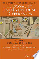 The Wiley Encyclopedia of Personality and Individual Differences  Models and Theories Book
