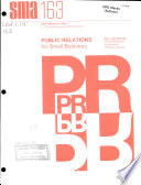 Public Relations for Small Business Book