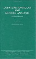 Cubature Formulas   Modern Analysis