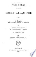 The Works of the Late Edgar Allan Poe  Narrative of Arthur Gordon Pym  Miscellanies