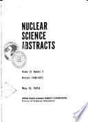 Nuclear Science Abstracts