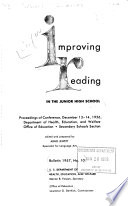 Improving Reading In The Junior High School