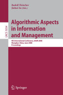 Pdf Algorithmic Aspects in Information and Management Telecharger