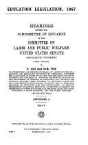 Education legislation, 1967: hearings before the ...