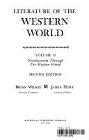 Literature Western World Volum Book