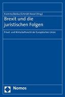 Brexit und die juristischen Folgen: Privat- und Wirtschaftsrecht der ...